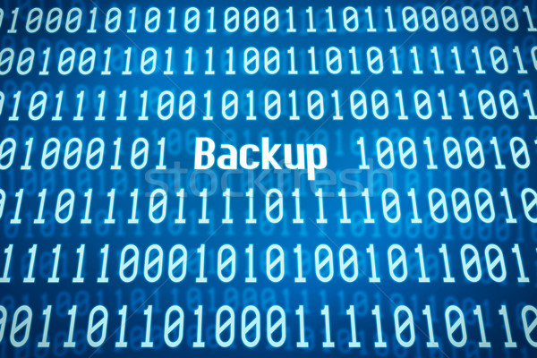 Binary code with the word Backup in the center Stock photo © Zerbor
