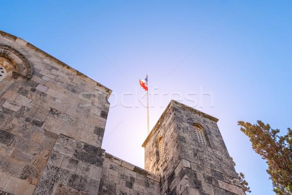 Kilise Kudüs parlak güneş sanat İsa Stok fotoğraf © Zhukow