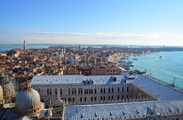 Kathedraal Venetië boven stad daken afstand Stockfoto © Zhukow