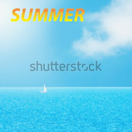 Unshaven man in sunglasses looking at sea Stock photo © Zhukow