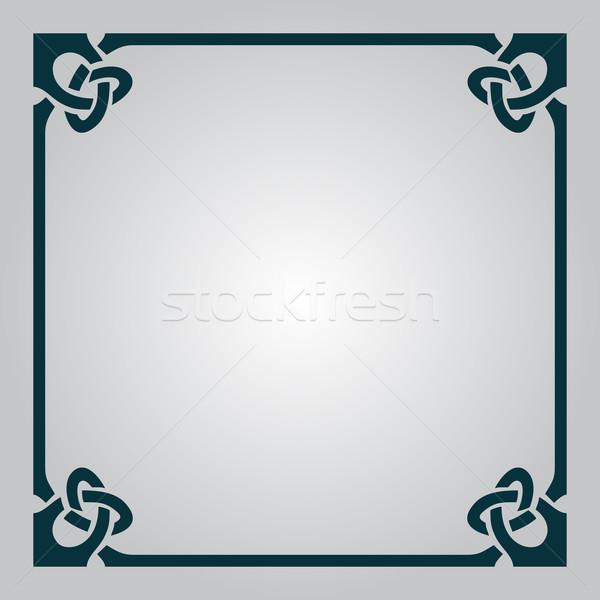 Elegante celtic frame abstract kaart witte Stockfoto © Zhukow