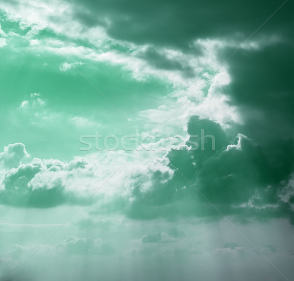 gray clouds tinted in the green Stock photo © Zhukow