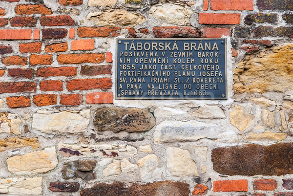 Stock photo: Part of the city wall built in 1655, Vysehrad, Prague