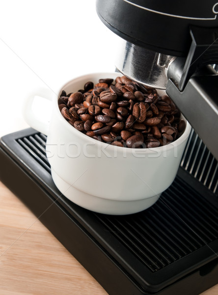 coffee maker machine with white coffee cup Stock photo © Zhukow