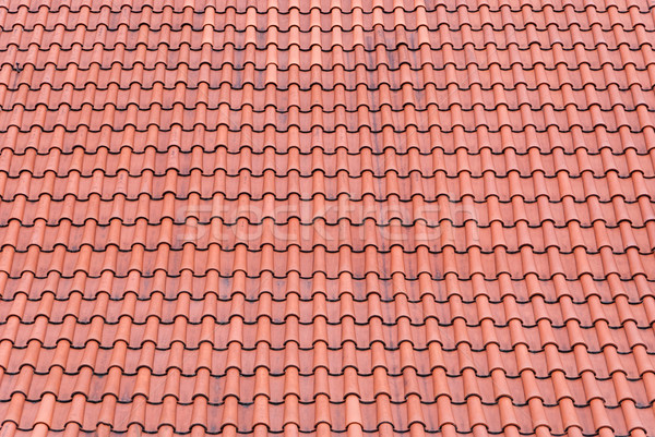 Red tiles roof background Stock photo © Zhukow