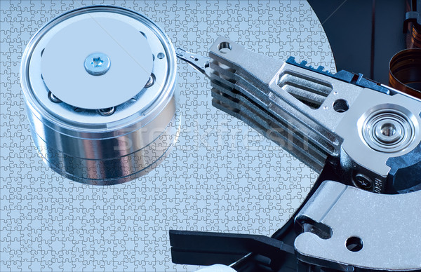 Hard disk detail with a blue hue Stock photo © Zhukow