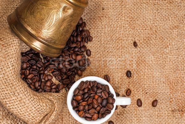 árabe cobre copo café velho Foto stock © Zhukow