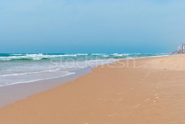 Panoramisch strand middellandse zee zee een Stockfoto © Zhukow