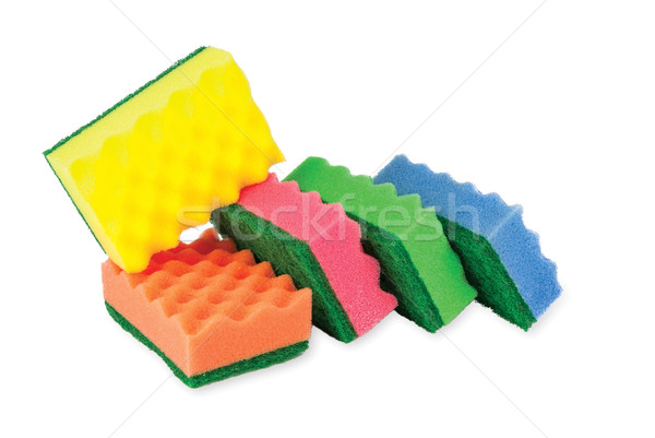collection sponges for cleaning, isolated on white background Stock photo © Zhukow