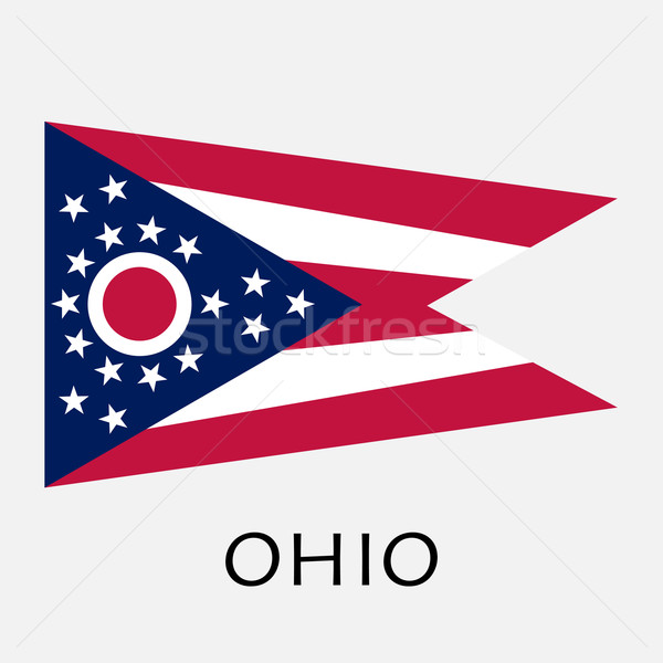 Ohio state flag of America, isolated on white background. Stock photo © Zhukow