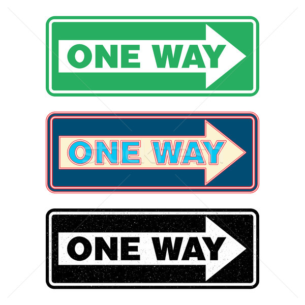 One way sign set. Stock photo © Zhukow