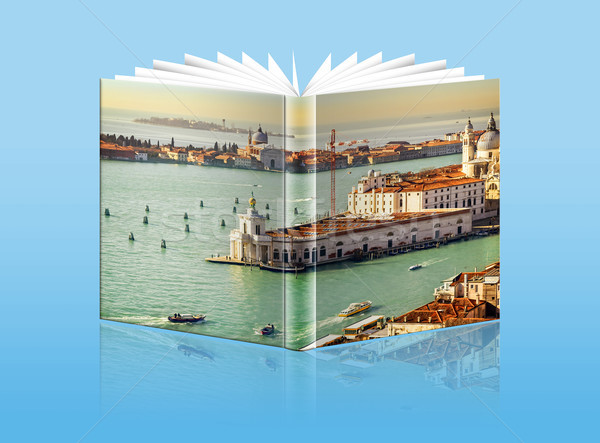 An opened  book with a picture - Gulf of Venice, Italy Stock photo © Zhukow