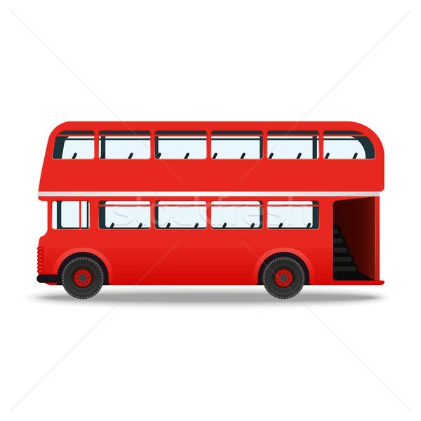 London red bus Stock photo © Zhukow