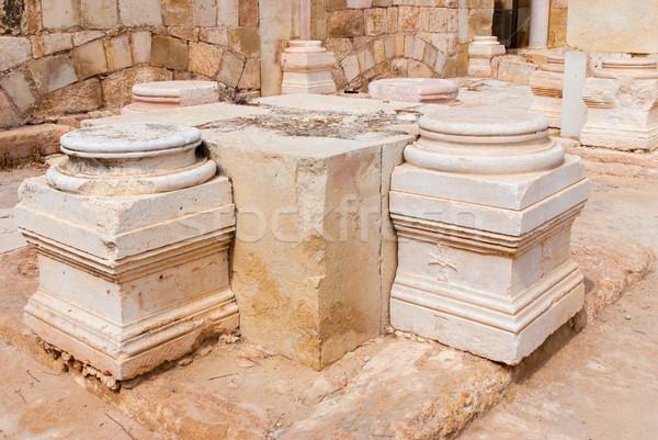 église parc Israël vue ruines mur Photo stock © Zhukow