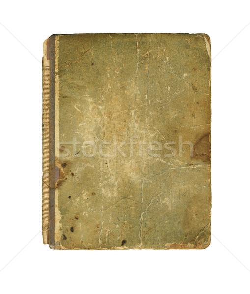 Starej książki okładka vintage tekstury odizolowany biały Zdjęcia stock © Zhukow
