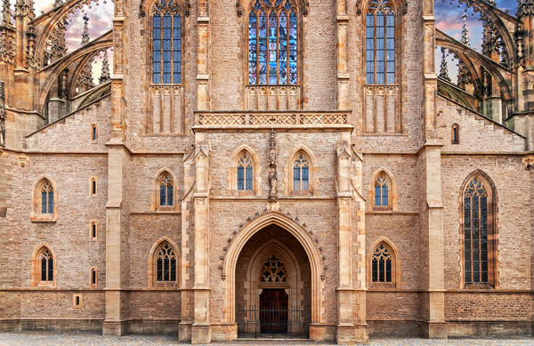 St. Barbara gothic cathedral in Kutna Hora, Bohemia Stock photo © Zhukow