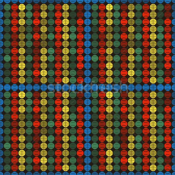 Stock fotó: Vektor · végtelen · minta · sport · golyók · textúra · futball