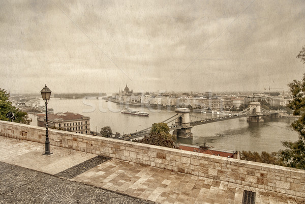 View over Danube river in Budapest  Stock photo © Zhukow