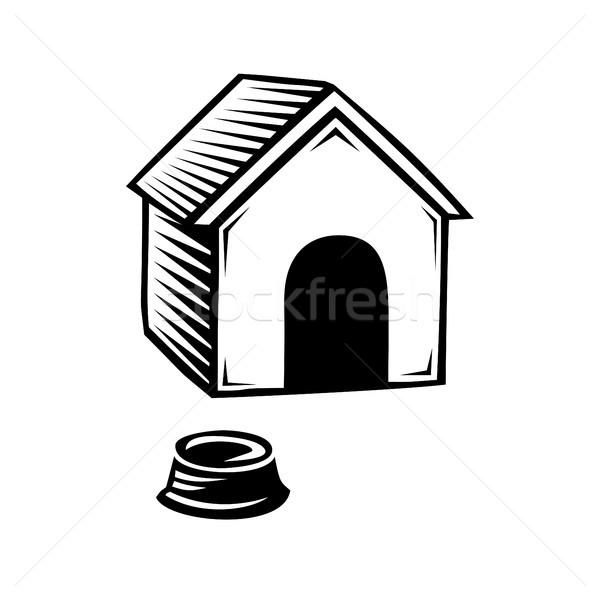 Doghouse icon isolated on white background. Stock photo © Zhukow