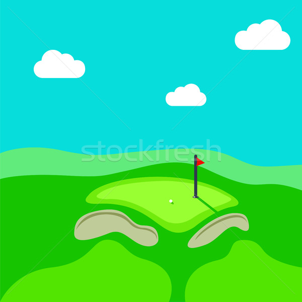 Golf hole vector green tee background illustration Stock photo © Zhukow