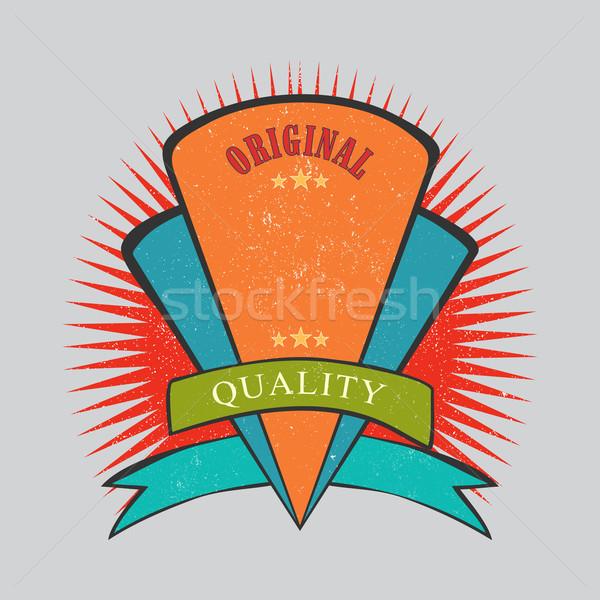 ретро Vintage Знак текстуры Label веб Сток-фото © Zhukow