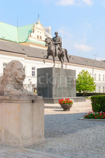 Joseph Poniatowski monument. Poland. Warsaw Stock photo © Zhukow