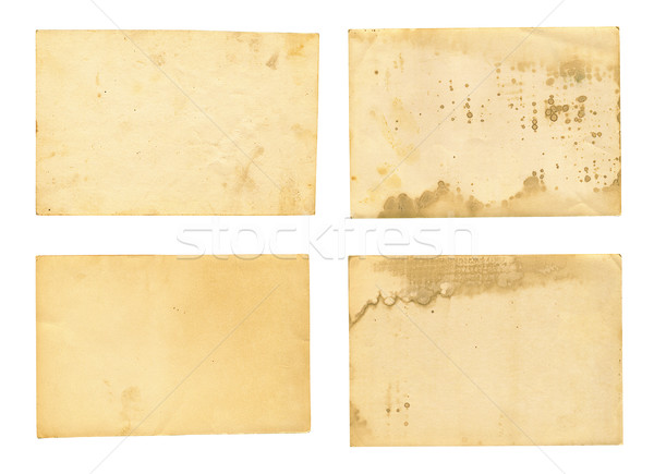 collection of various old photos on white background Stock photo © Zhukow