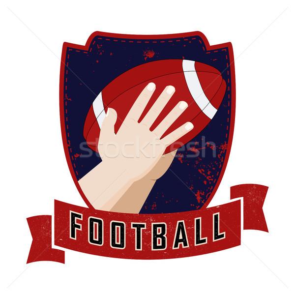 Mãos bola ilustração americano grunge Foto stock © Zhukow