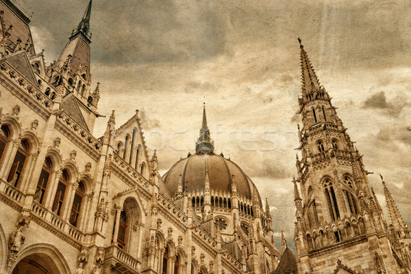 Hungarian parliament building by Danube river. Stock photo © Zhukow