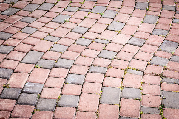 Stock photo: Stone blocks in the walkway