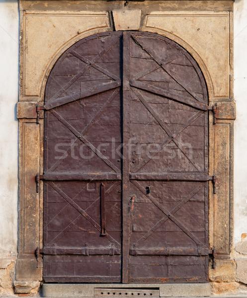Vintage  Door, Prague, The Czech Republic Stock photo © Zhukow