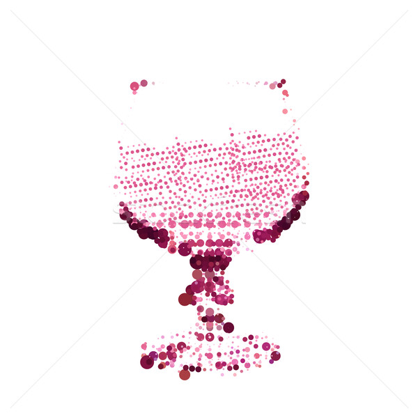 Wine stains form of glass on white background Stock photo © Zhukow
