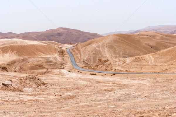 砂漠 周りに オーソドックス 修道院 クロス 山 ストックフォト © Zhukow