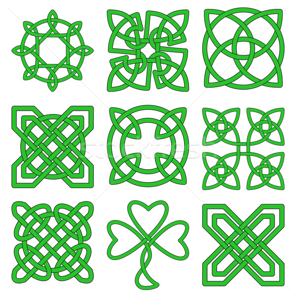 коллекция кельтской Creative зеленый татуировка Сток-фото © Zhukow