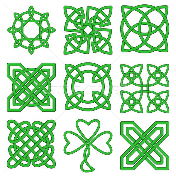 Ensemble Celtic Creative projets vert tatouage Photo stock © Zhukow