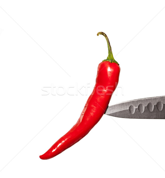 Red pepper on a knife edge Stock photo © Zhukow