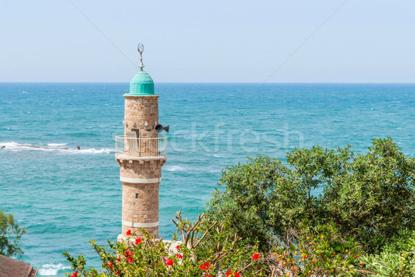 The minaret of the mosque in old Jaffa . Israel. Stock photo © Zhukow