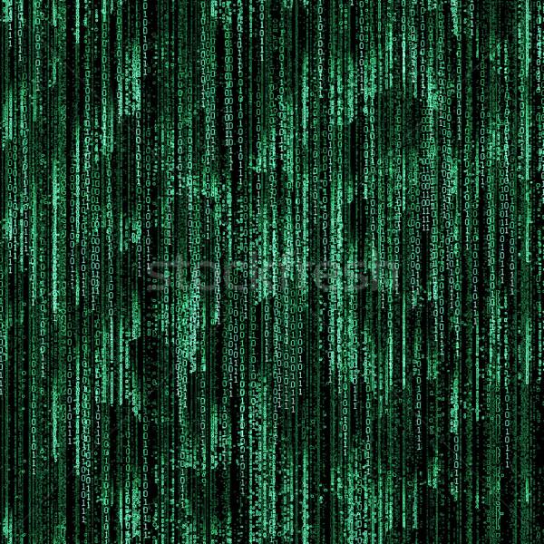зеленый двоичный код черный свет технологий фон Сток-фото © Zhukow