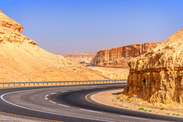 Road in desert on the way to Dead Sea Stock photo © Zhukow