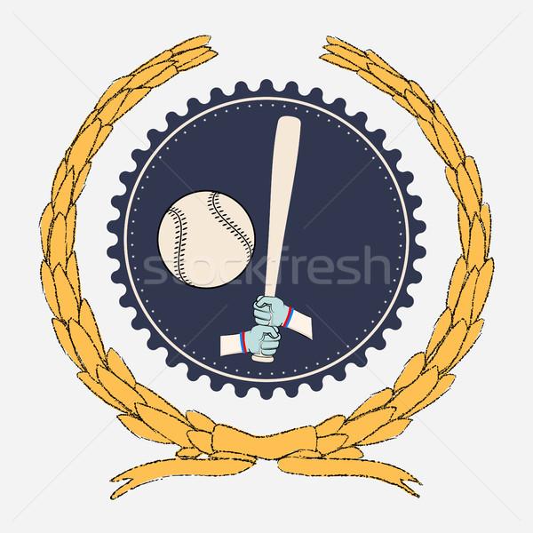 Mãos taco de beisebol grande bola esportes Foto stock © Zhukow