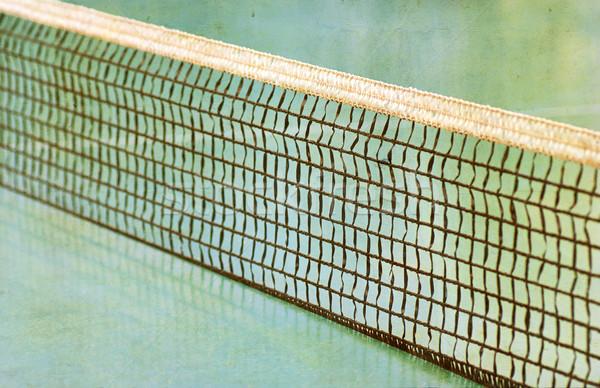 Tennis veld net gras server zomer Stockfoto © Zhukow