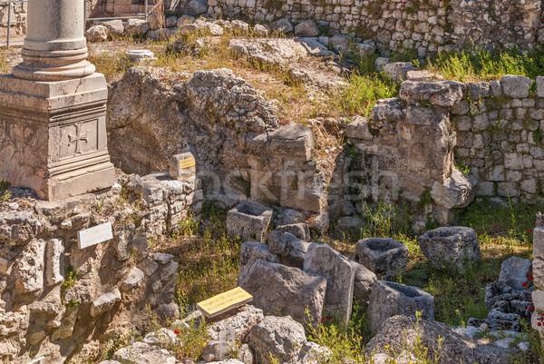 ören tapınak Kudüs şehir duvar taş Stok fotoğraf © Zhukow