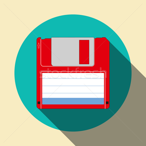 Floppy disk icon Stock photo © Zhukow