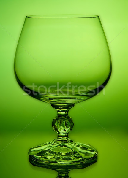 abstract green wineglass and background Stock photo © Zhukow