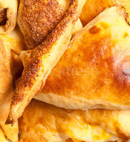 freshly baked italian cheese pies on the sacking Stock photo © Zhukow