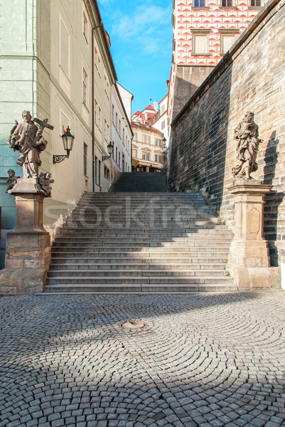 Prague - Old Castle Stairs Stock photo © Zhukow