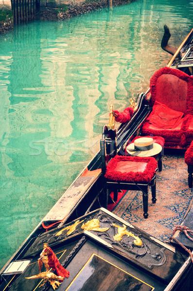 Venedik boyama stil İtalya su Stok fotoğraf © Zhukow