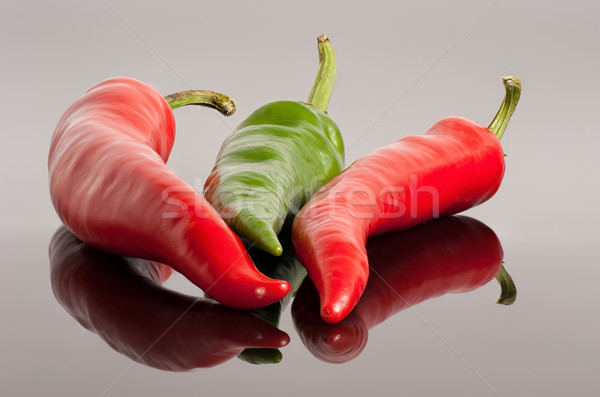 red and green hot chili peppers background Stock photo © Zhukow