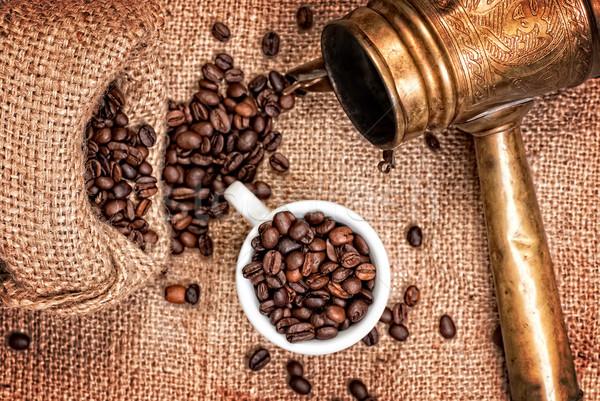 árabe cobre taza café edad Foto stock © Zhukow