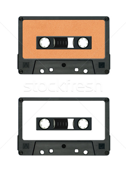 collection of various vintage audio tapes on white background. each one is shot separately Stock photo © Zhukow